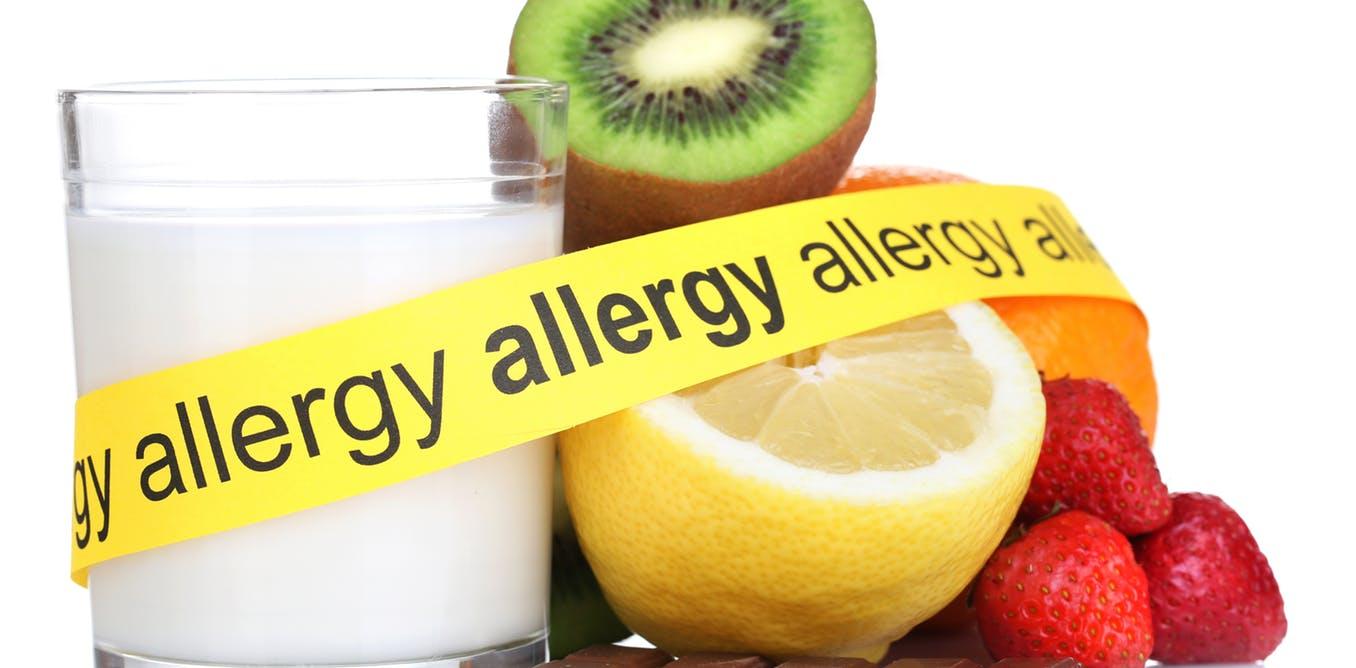 Alimentos causadores de alergia separados por uma faixa demonstrando que se há alergia | Existe diferença entre Intolerância alimentar e alergia alimentar?